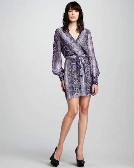 Christy Snake-Print Dress