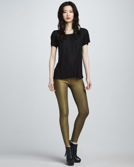 Duff Metallic Leggings, Gold