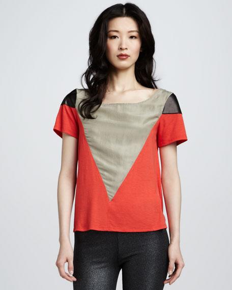 June Leather-Shoulder Top