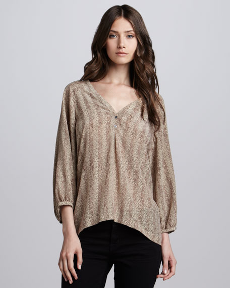 Oliana Herringbone Top