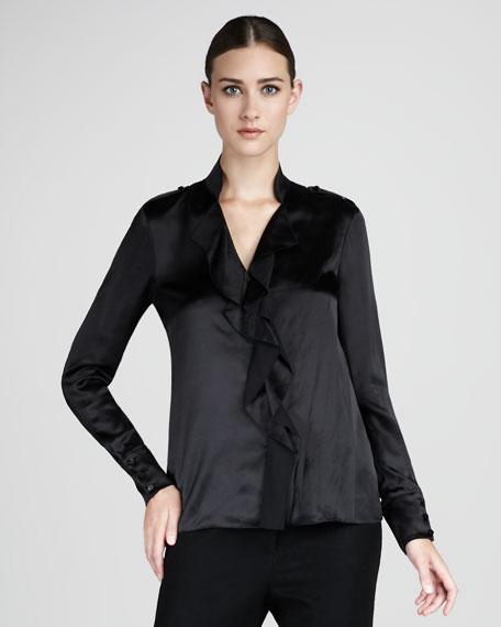 Ruffled Silk Blouse
