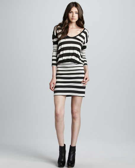 Jameson Striped Jersey Dress