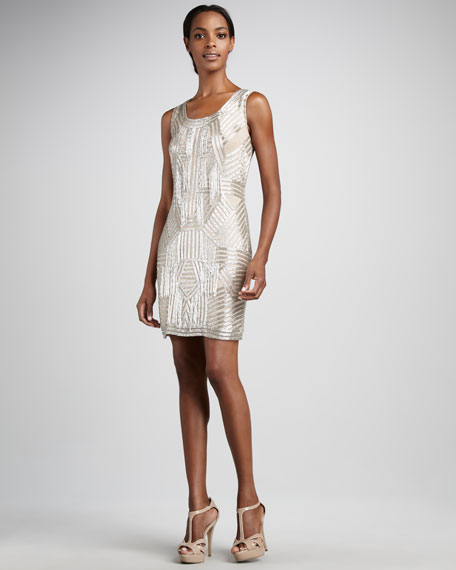 Deco-Sequin Cocktail Dress