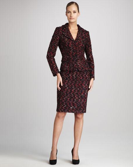 Tweed Jacket & Skirt Set
