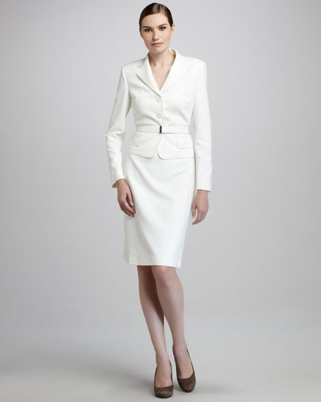 Belted Suit, Soft White