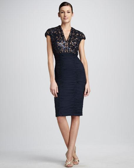 Sequin-Bodice Dress