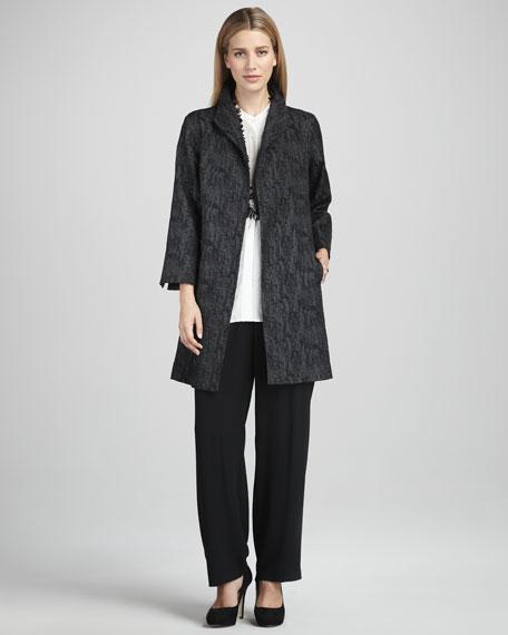 Silk Button-Front Blouse, Petite