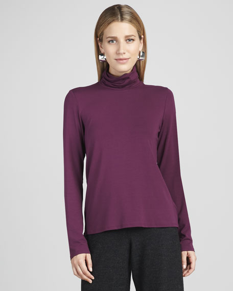 Scrunch-Neck Jersey Top
