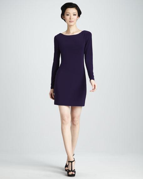 Cowl-Back Jersey Dress
