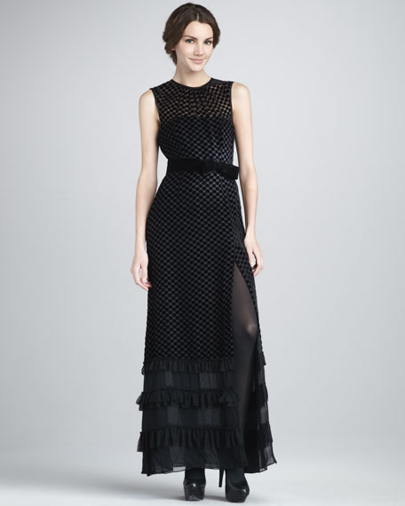 Get On Board Velvet Gown