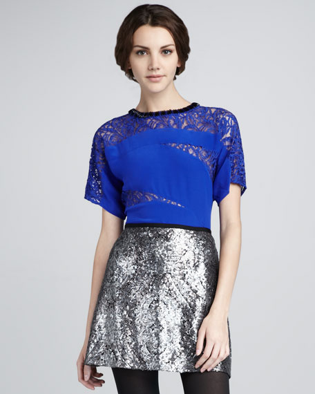 Disco Lady Sequined Skirt