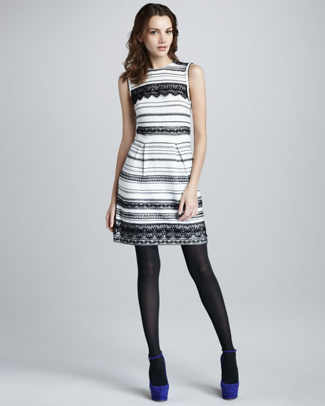 Peace & Soul Lace-Stripe Dress