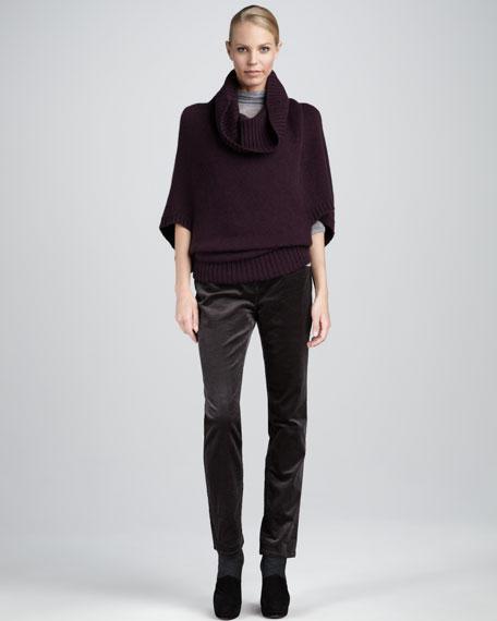 Funnel-Neck Sweater, Petite