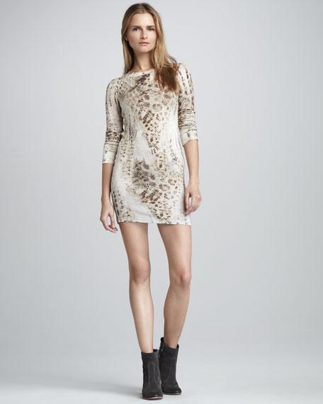 Keaton Leopard-Print Dress
