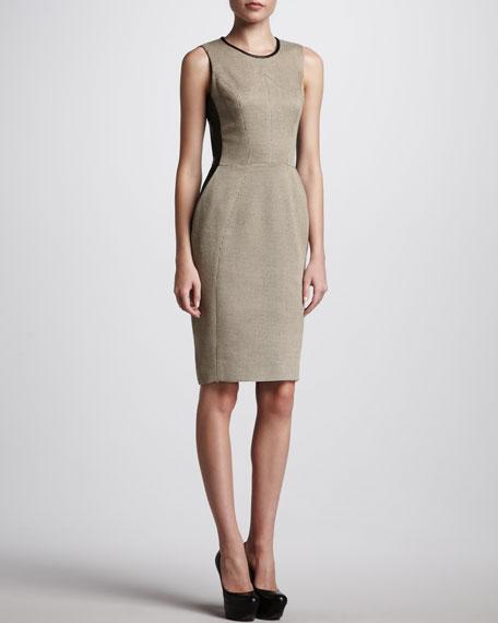 Check Tweed Sheath Dress