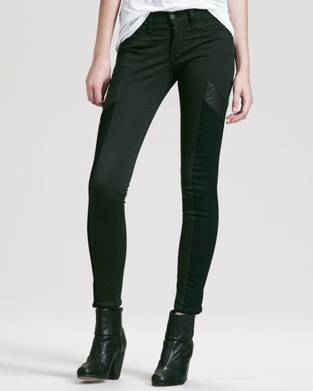 Grand Prix Paneled Leggings, Forest