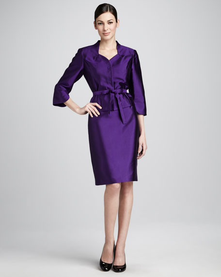 Petal-Sleeve Suit