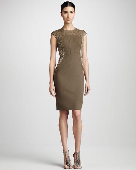 Bead-Panel Cocktail Dress