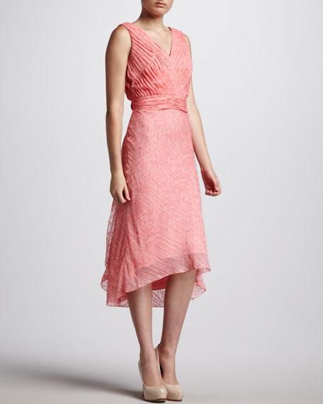 Cascade-Back Fil Coupe Dress