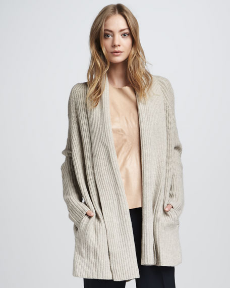 Chunky Cardigan, Natural