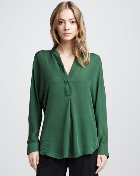 Silk Blouse, Evergreen