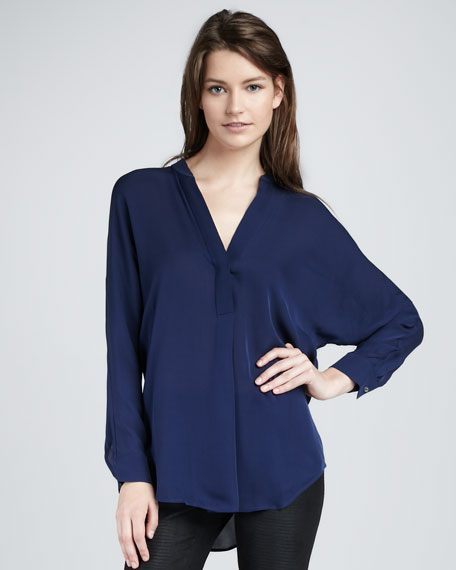 Half-Placket Blouse, Royal