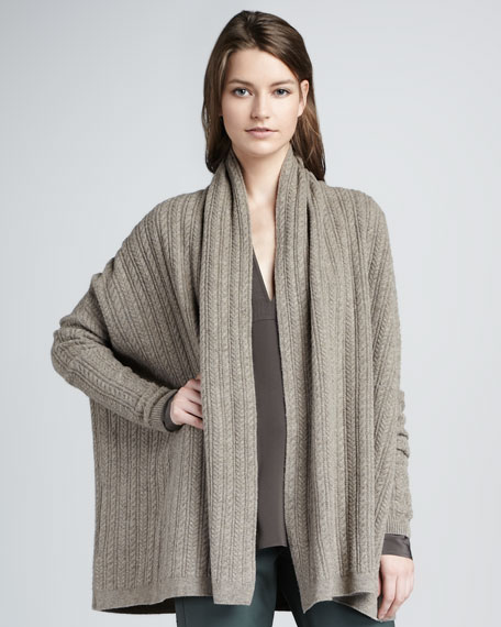 Loose Cable-Knit Cardigan