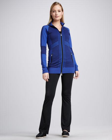 Intarsia Knit-Zip Jacket