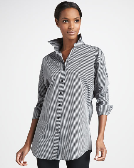 Striped Long Shirt, Women's