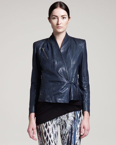 Thin Supple Leather Jacket