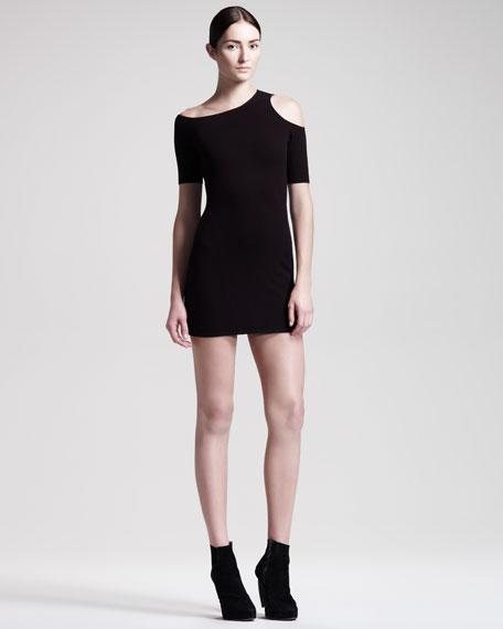 Knit Cold-Shoulder Dress