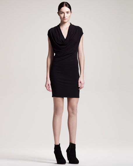 Nova Jersey Dress, Charcoal