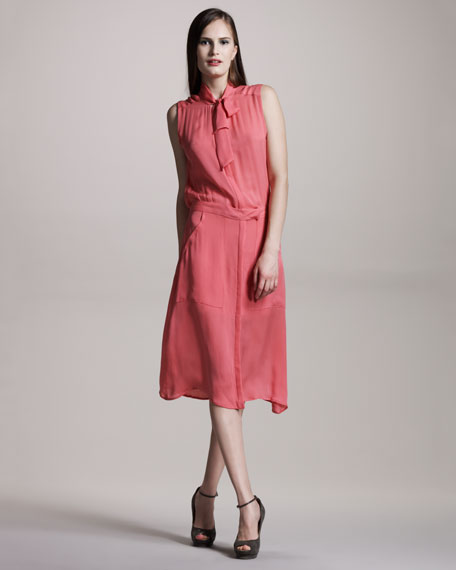 Megalie Ascot Shirtdress