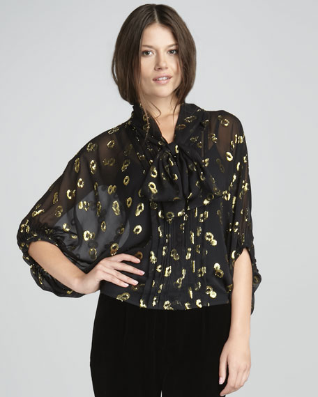 Joanne Gem-Jacquard Top