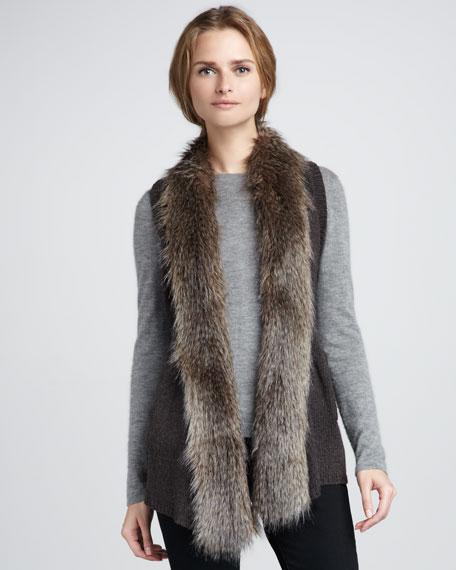 Sherwood Faux-Shearling Vest