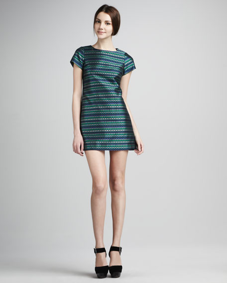 Julia Short-Sleeve Shift Dress