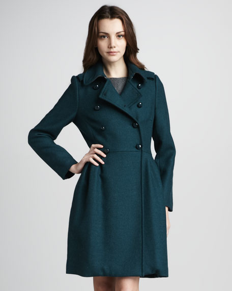 Madlyn Double-Breasted Woolen Coat