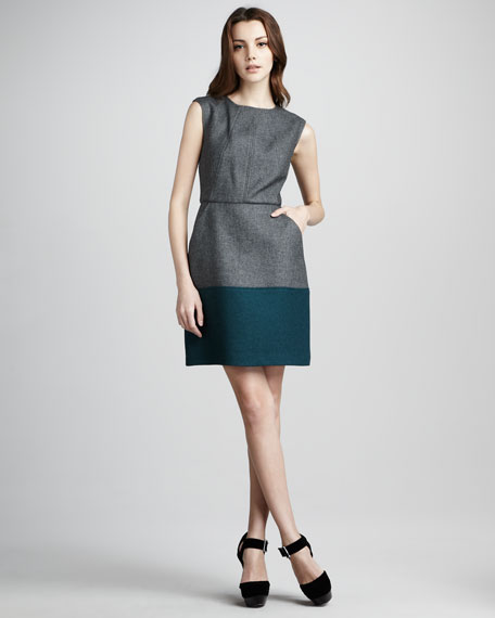 Trini Colorblock Woolen Dress
