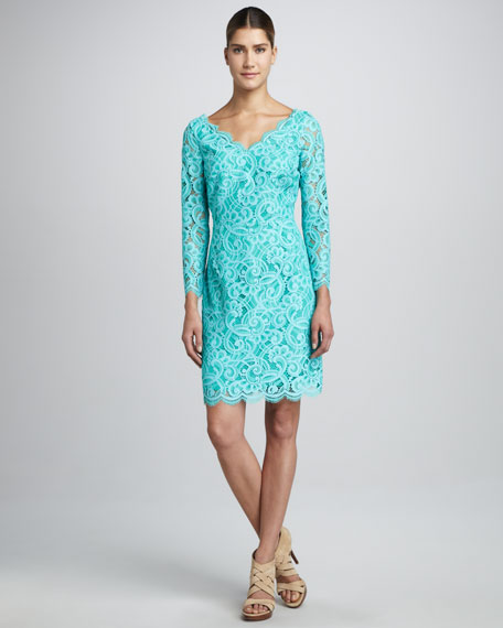 Helene Two-Tone Lace Dress