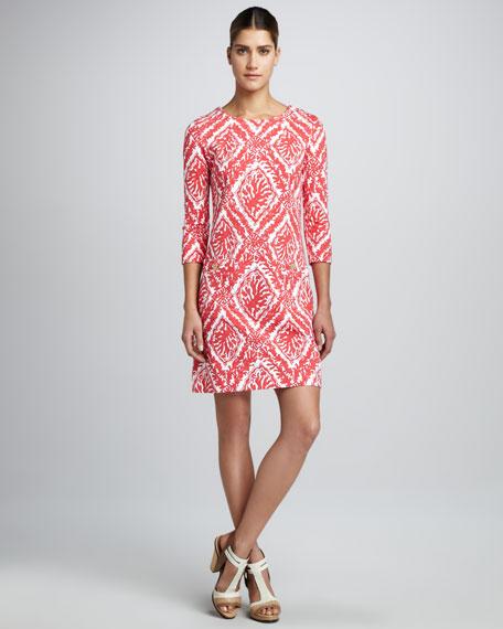 Charlene Coral-Print Dress