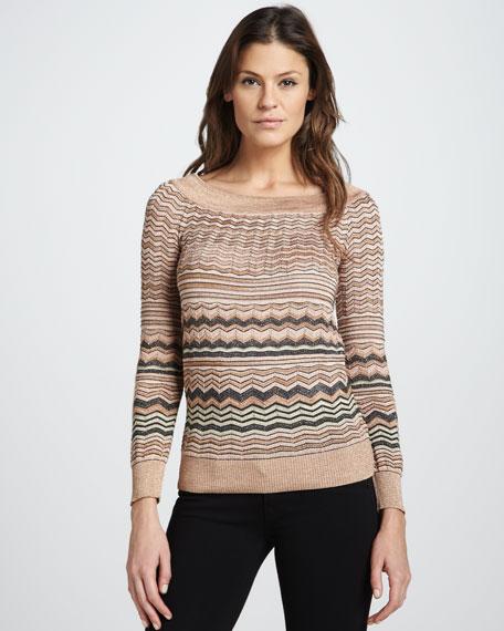 Metallic Wave Sweater