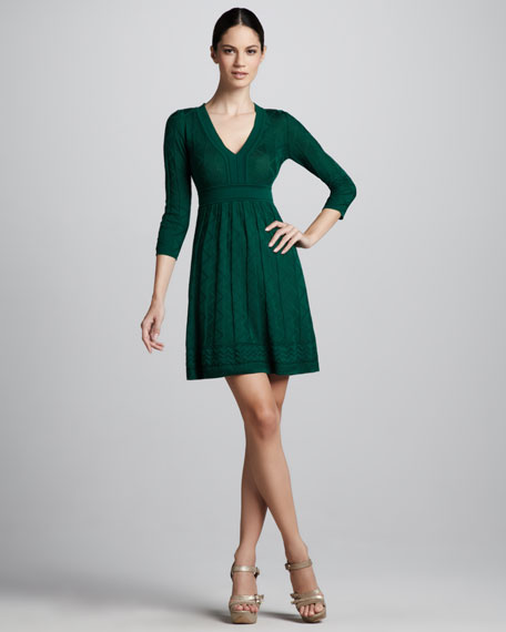 Zigzag V-Neck Dress