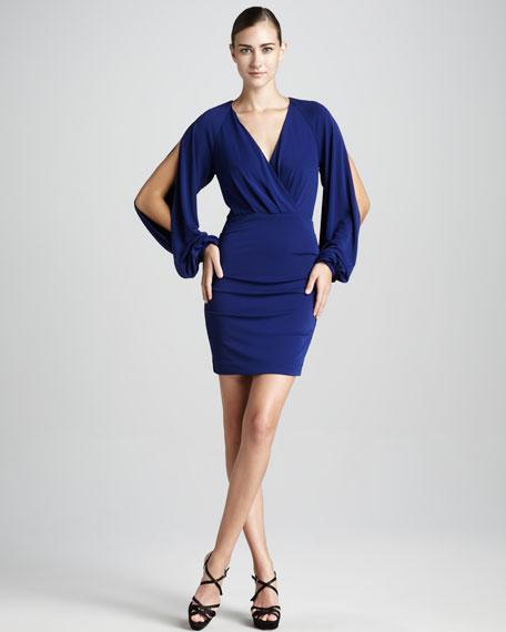 Faux-Wrap Cocktail Dress