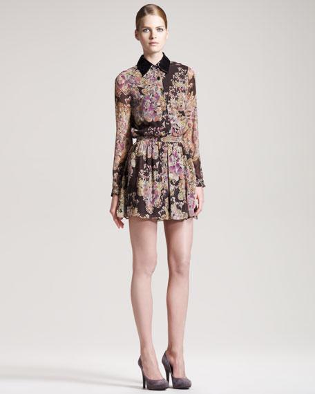 Floral-Print Shirtdress