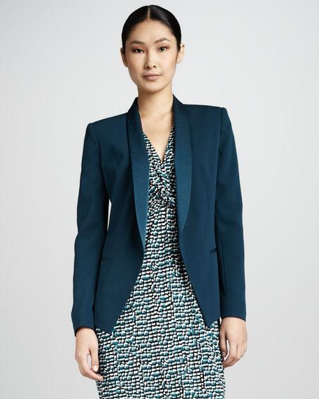 Shawl Collar Jacket, Azurite