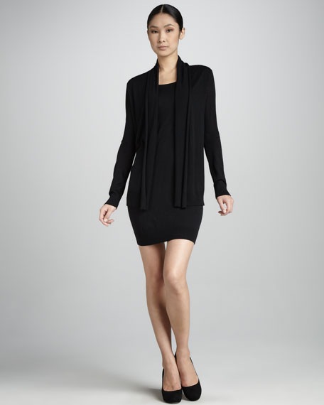 Cozy Double-Layer Silk-Cashmere Dress