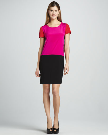 Colorblock Drop-Waist Dress