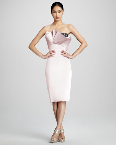 Strapless Origami Cocktail Dress