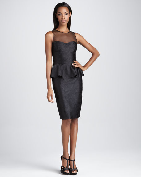 Sleeveless Cocktail Dress with Peplum