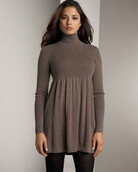Mock-Neck Dress